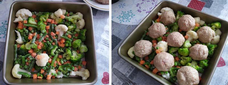 овощи и фрикадельки